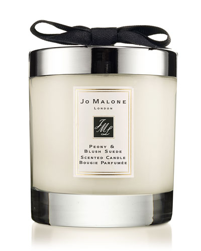 Peony & Blush Suede Scented Home Candle, 7 oz