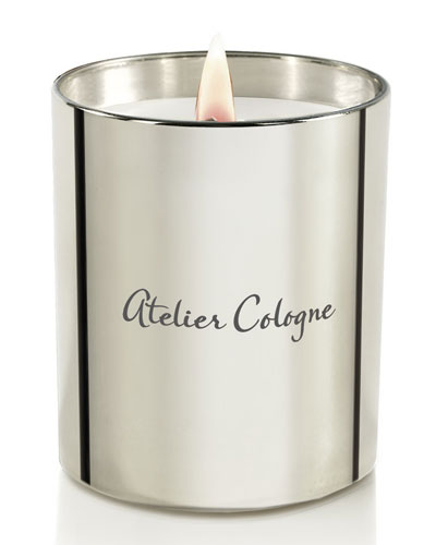 Silver Iris Candle