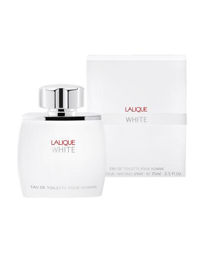 Lalique White Eau De Toilette Pour Homme, 2.5 oz./ 75 mL