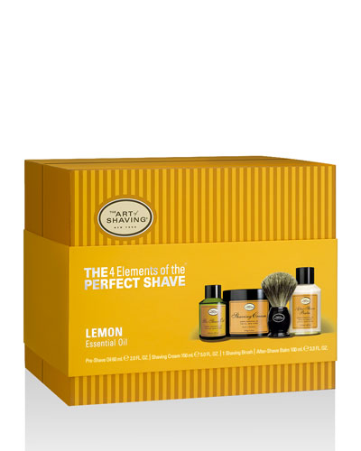 4 Elements of the Perfect Shave Full-Size Kit, Lemon