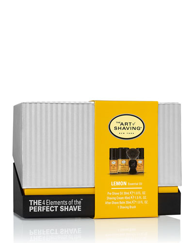 The Art Of Shaving 4 Elements Of The Perfect Shave Mid - size Kit, Lemon
