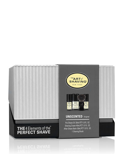 '4 Elements of the Perfect Shave Mid-Size Kit, Unscented