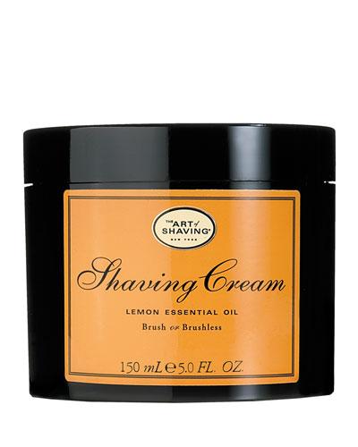 The Art Of Shaving Brush Or Brushless Shaving Cream, Lemon