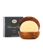 Shaving Soap with Wooden Bowl, Unscented