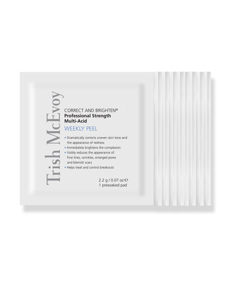 Trish McEvoy Correct and Brighten Weekly Peel, 12 Pads