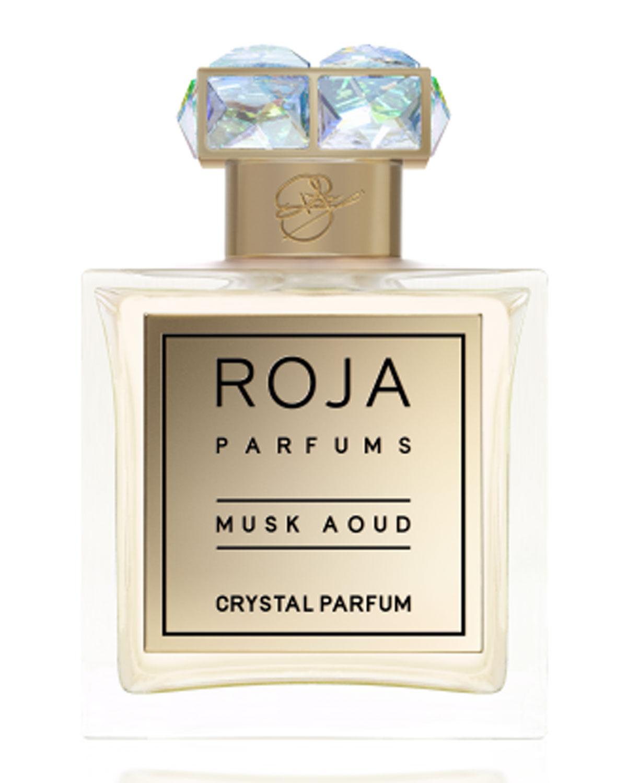 ROJA PARFUMS Musk Aoud Crystal Parfum, 3.4 Oz./ 100 Ml