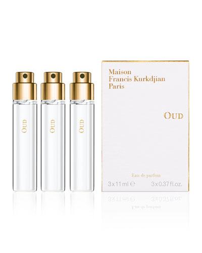 OUD Eau de Parfum Travel Spray Refills, 3 x 0.37 oz./ 11 mL