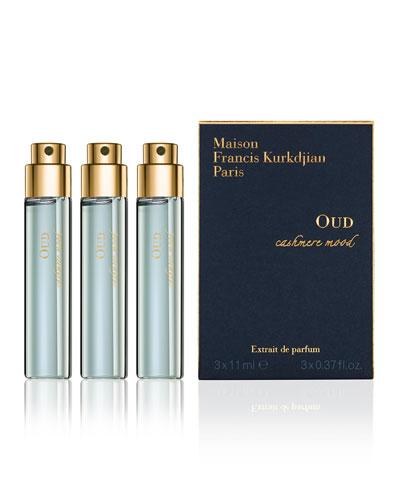 OUD cashmere mood Eau de Parfum Spray Refills, 3 x 0.37 oz./ 11 mL
