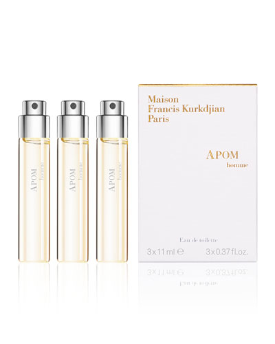 APOM homme Eau de Toilette Spray Refills, 3 x 0.37 oz./ 12 mL
