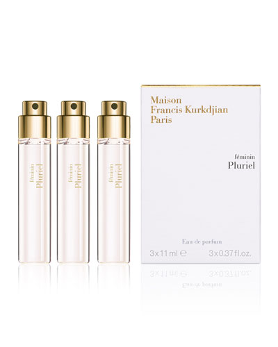 féminin Pluriel Travel Refills Eau de Parfum, 3 x 0.37 oz.