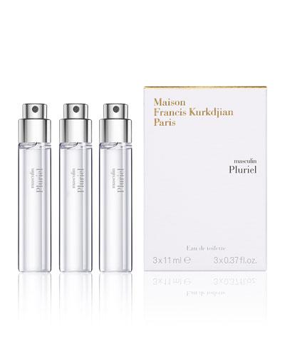masculin Pluriel Eau de Toilette Travel Spray Refills, 3 each 0.37 oz./ 11 mL