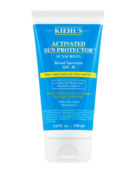 Kiehl's Since 1851 5 oz. Activated Sun Protector Water-Light Lotion for Face & Body Broad Spectrum SPF 30