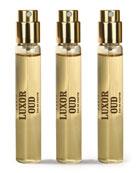 Spray Fiole Luxor Oud, 3 x .34 oz./ 10 mL