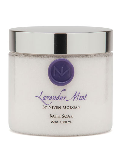 Lavender Mint Bath Salt Jar, 22 oz.