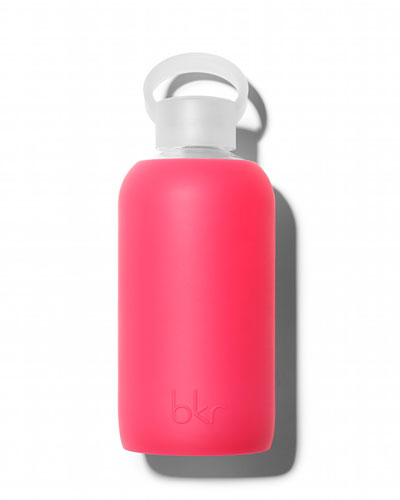 Glass Water Bottle, Bisous, 500 mL