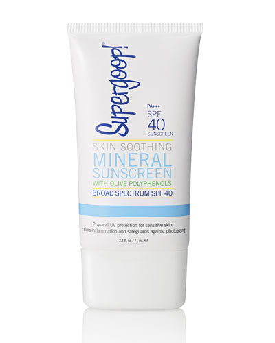 Skin Soothing Mineral Sunscreen with Olive Polyphenols SPF 40, 2.4 oz.