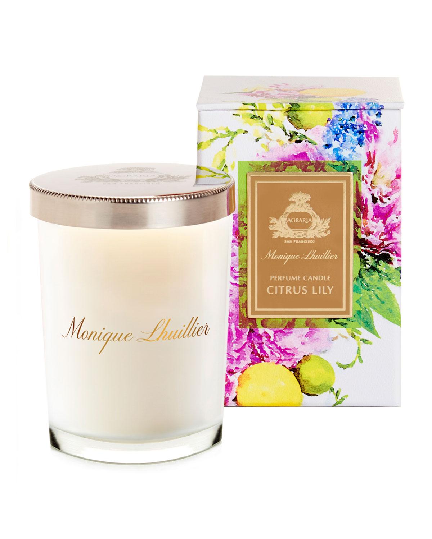 7 oz. Monique Lhuillier Citrus Lily Crystal Candle