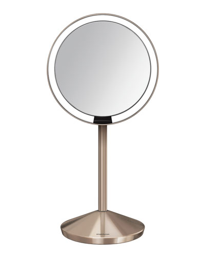 Simple Human 5 Sensor Makeup Mirror With Travel Case, Rose Gold