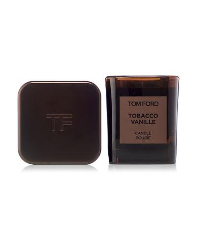 Tobacco Vanille Candle & Holder Set