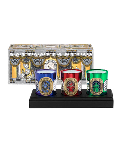 3 Mini Holiday Candle Set