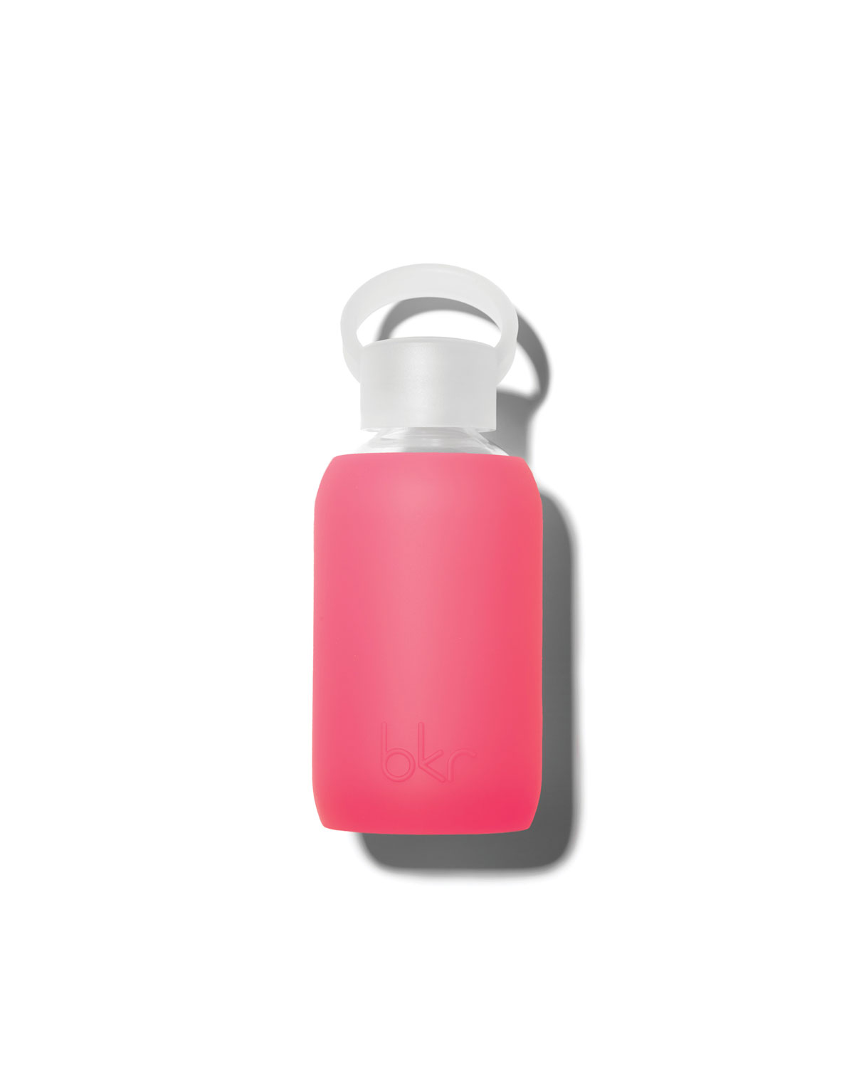 Glass Water Bottle, Rosy, 250 mL