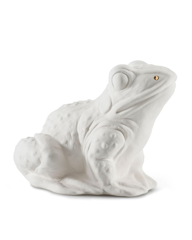 Ceramic Frog Scent Animal, White Gold