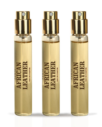 African Leather Travel Spray Refill, 3 x .03 oz./ 10 mL