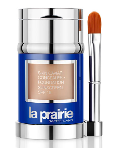 Skin Caviar Concealer · Foundation Sunscreen SPF 15, 1.0 oz.
