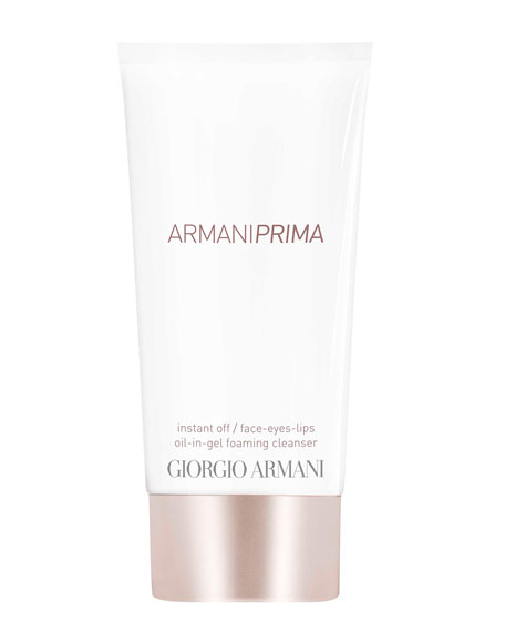 Giorgio Armani Prima Oil-in-Gel Instant Off Face & Eyes & Lips Foaming Cleanser