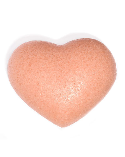 Cleansing Sponge French Pink Clay Heart