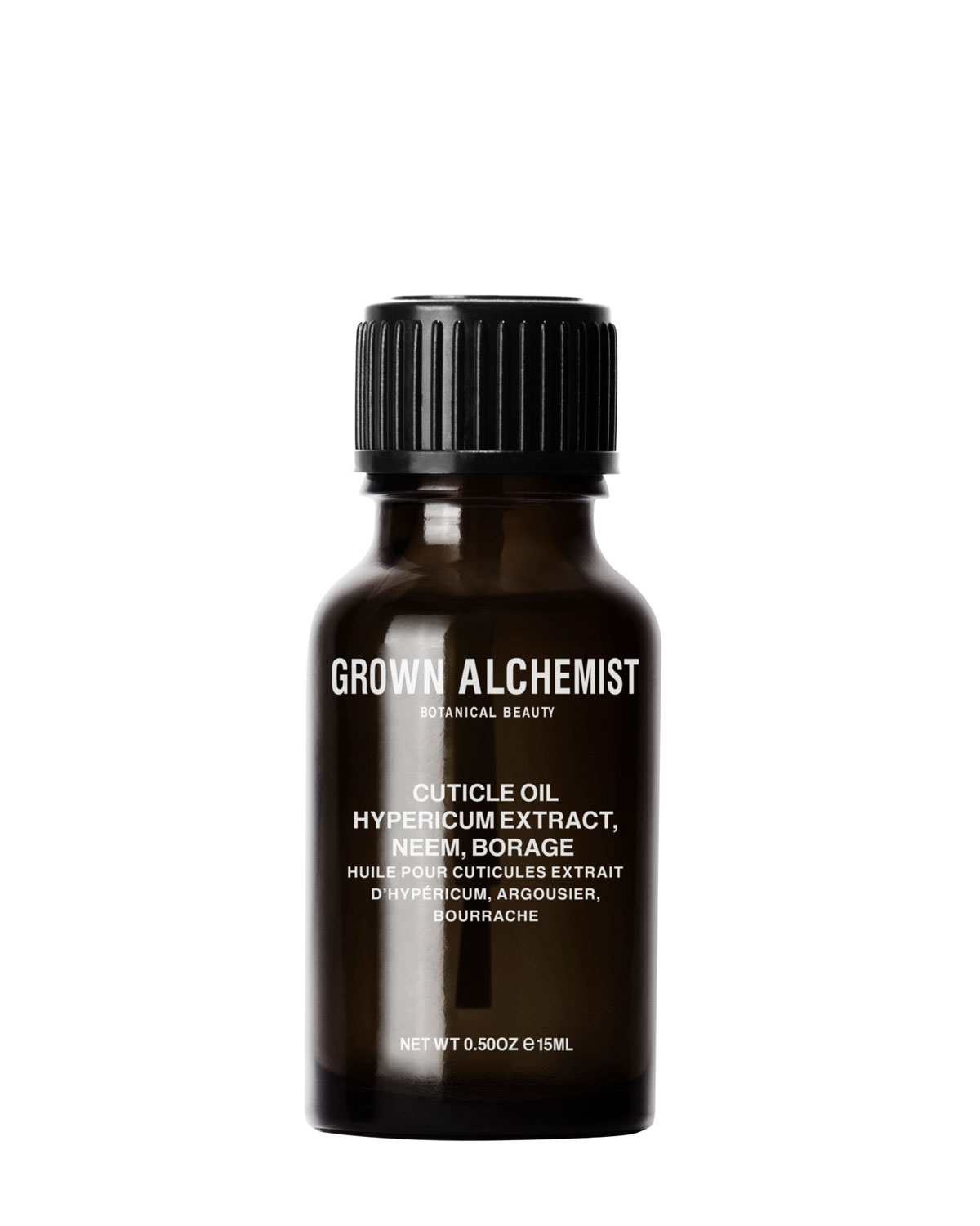 GROWN ALCHEMIST Cuticle Oil: Hypericum Extract, Neem, Borage, 0.5 Oz./ 15 Ml