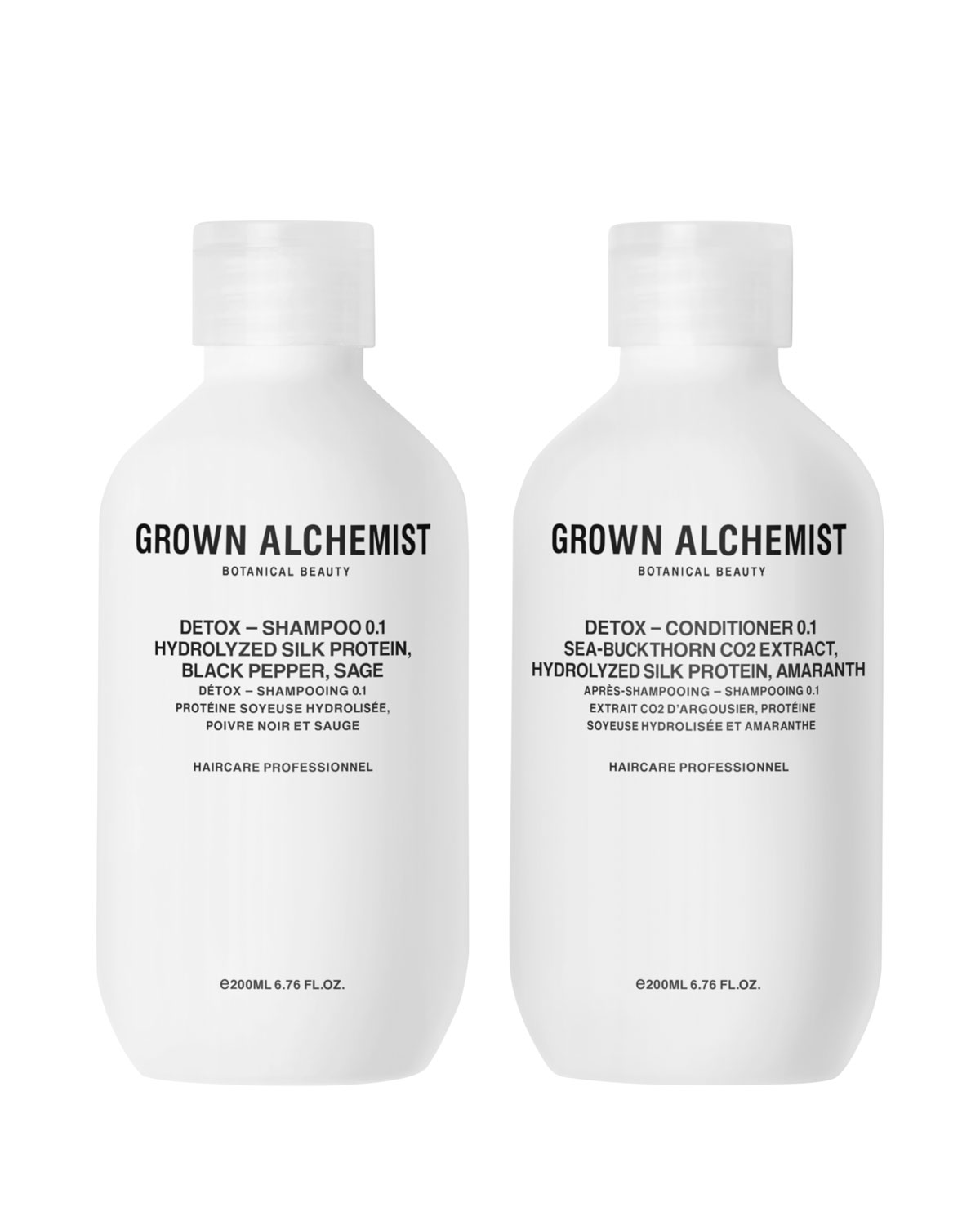 GROWN ALCHEMIST Detox Haircare Twinset, 2 X 6.7 Oz./ 200 Ml