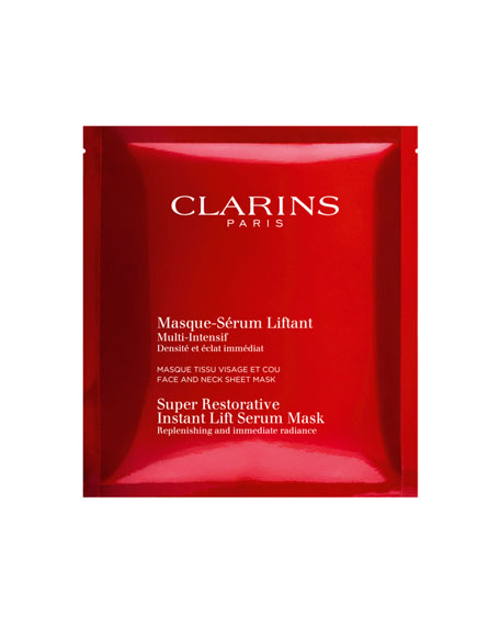 Clarins Super Restorative Instant Lift Serum Mask, 5 Pack