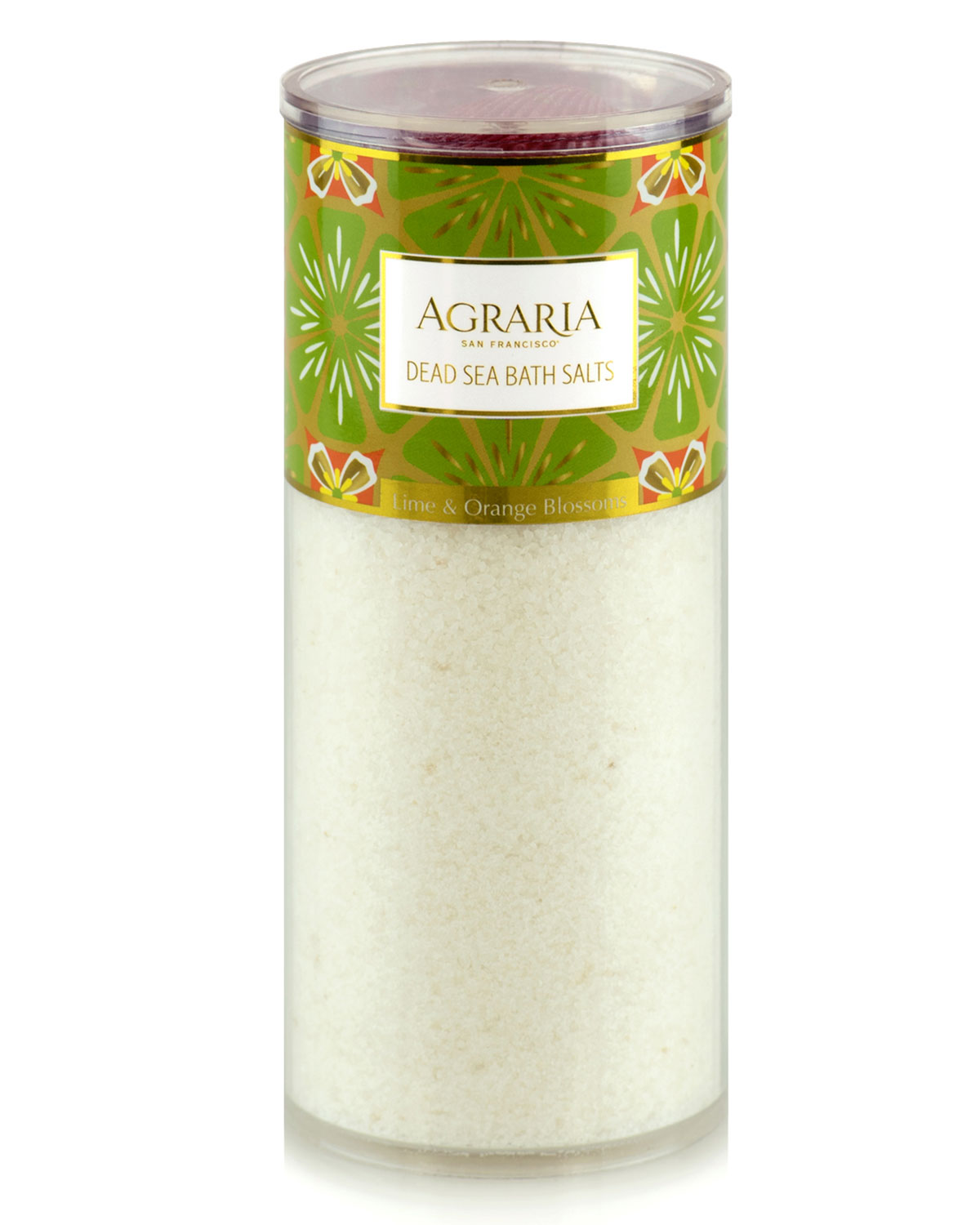 AGRARIA Lime & Orange Blossoms Bath Salt Tower, 16 Oz./ 454 G