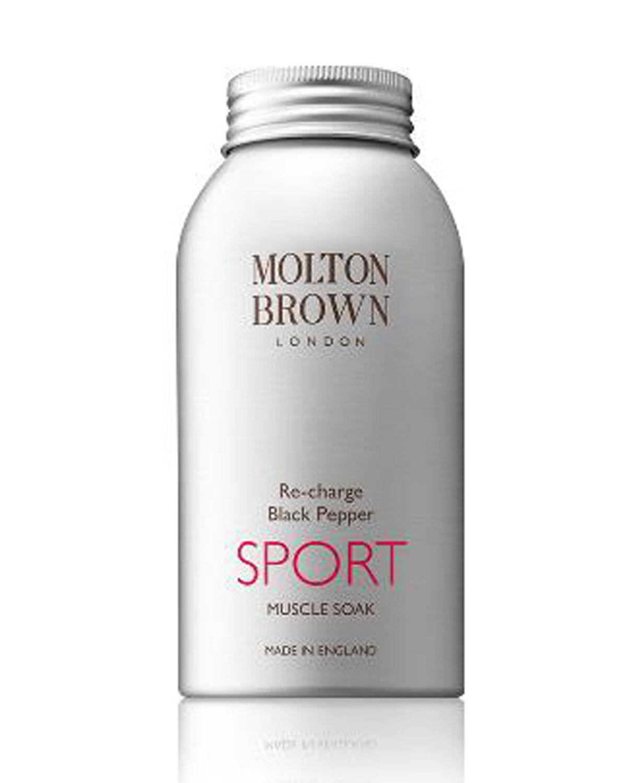 MOLTON BROWN Re-Charge Black Pepper Sport Muscle Soak, 10 Oz./ 283 G