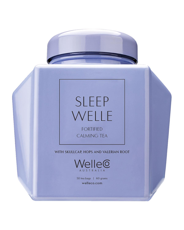 WELLECO Fortified Calming Tea Caddy, 50 Tea Bags