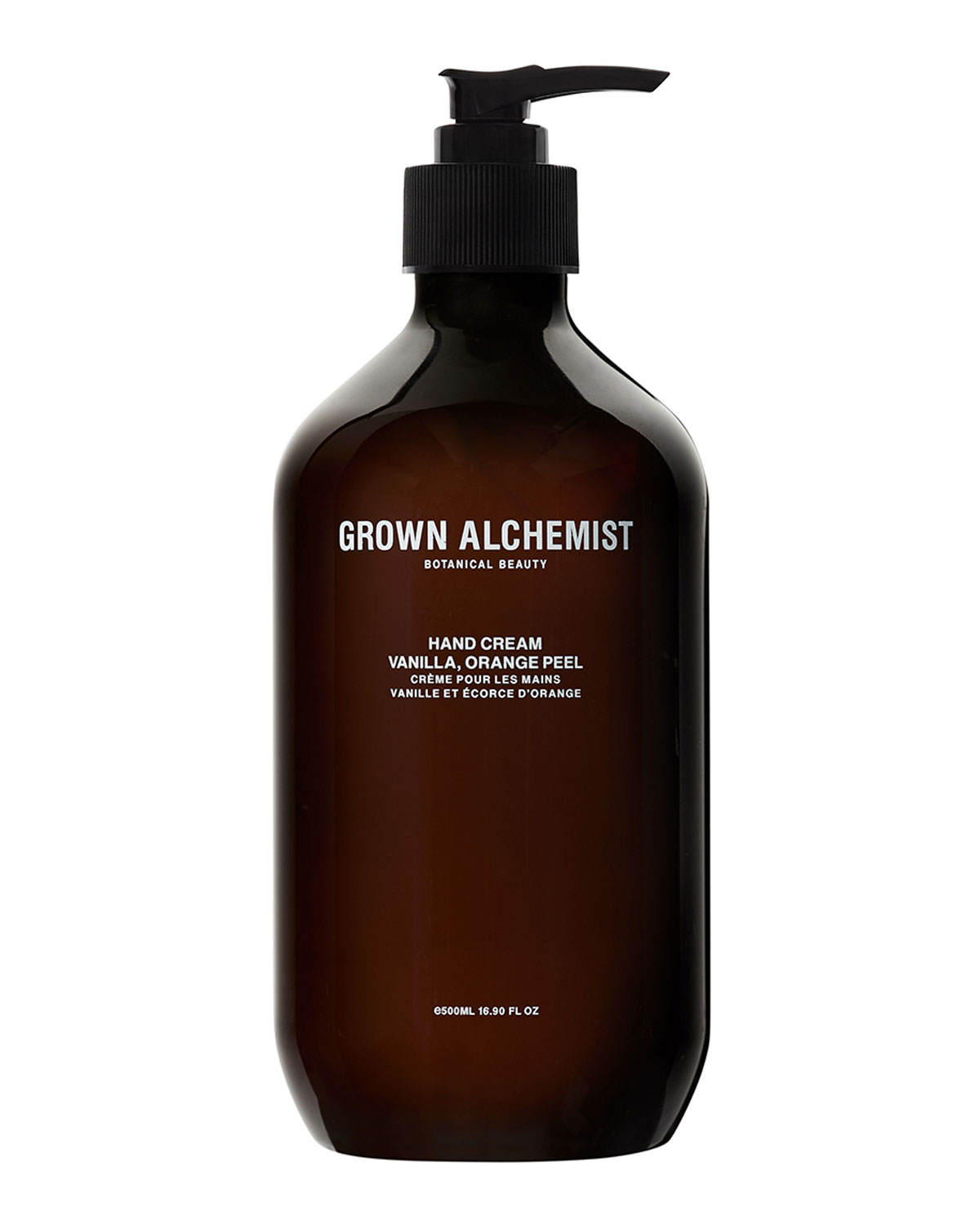 GROWN ALCHEMIST Hand Cream (Lg) - Vanilla/Orange Peel, 16.7 Oz./ 500 Ml
