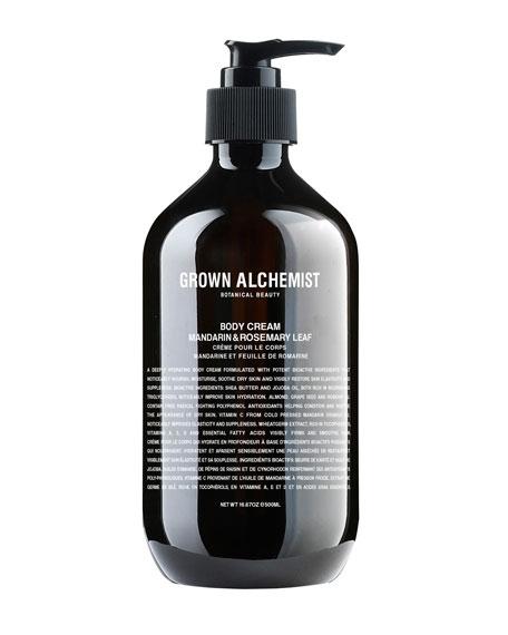 Grown Alchemist Body Cream – Mandarin/Rosemary Leaf, 16.7 oz./ 500 mL