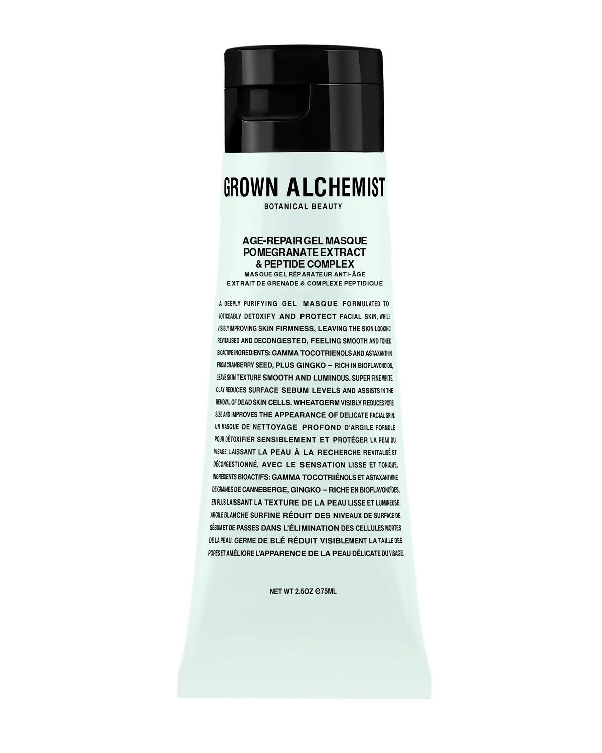 GROWN ALCHEMIST Age-Repair Gel Masque: Pomegranate & Amino Protein Complex, 2.5 Oz./ 75 Ml