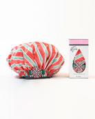 Candy Cane Road Bouffant Diva Shower Cap