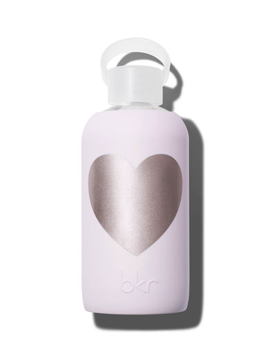 Glass Water Bottle, Lala Heart, 16 oz./ 500 mL