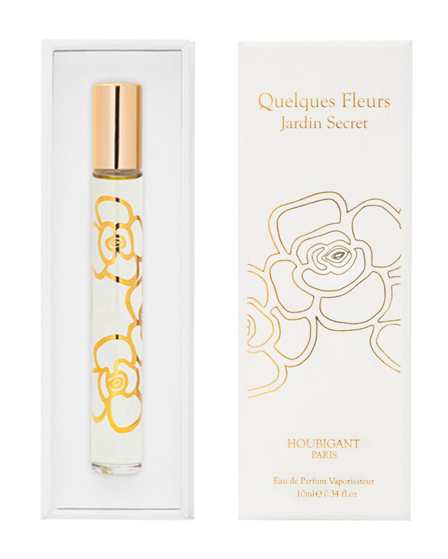 HOUBIGANT PARIS Quelques Fleurs Jardin Secret Eau De Parfum, 0.3 Oz./ 10 Ml