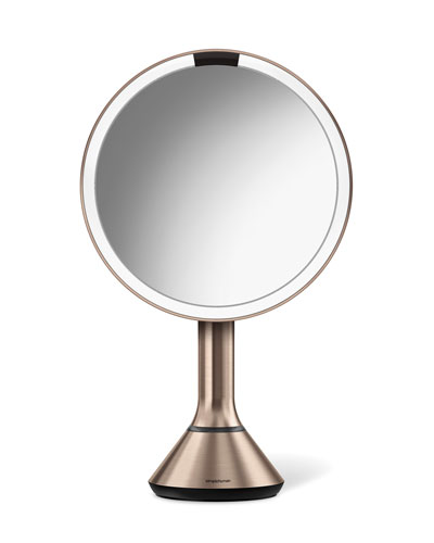 "8"" Sensor Makeup Mirror with Brightness Control, Rose-Tone"