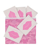 Lip Mask, 5 Pack with Zippered Pouch