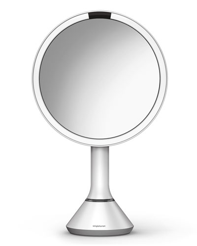 "8"" Sensor Makeup Mirror with Brightness Control, White"