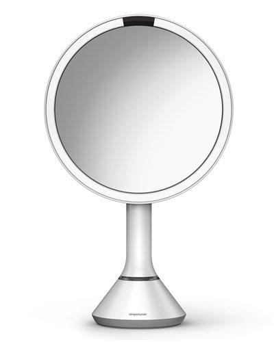 8&#148 Sensor Makeup Mirror with Brightness Control, White
