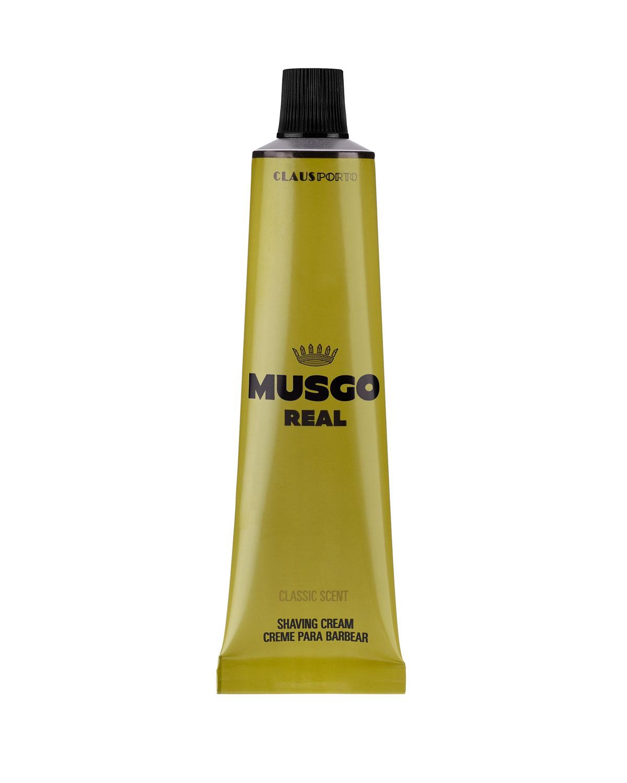 MUSGO REAL Classic Scent Shaving Cream, 3.4 Oz./ 100 Ml