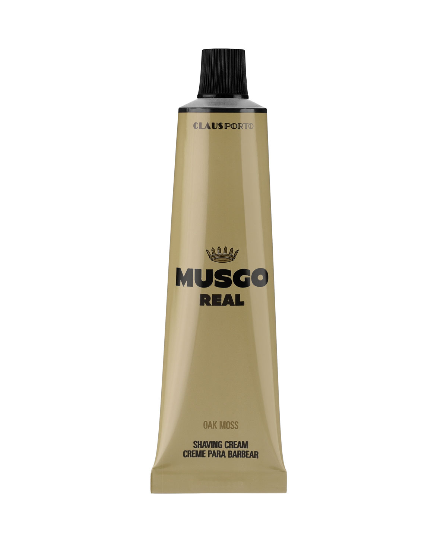 MUSGO REAL Oak Moss Shaving Cream, 3.4 Oz./ 100 Ml