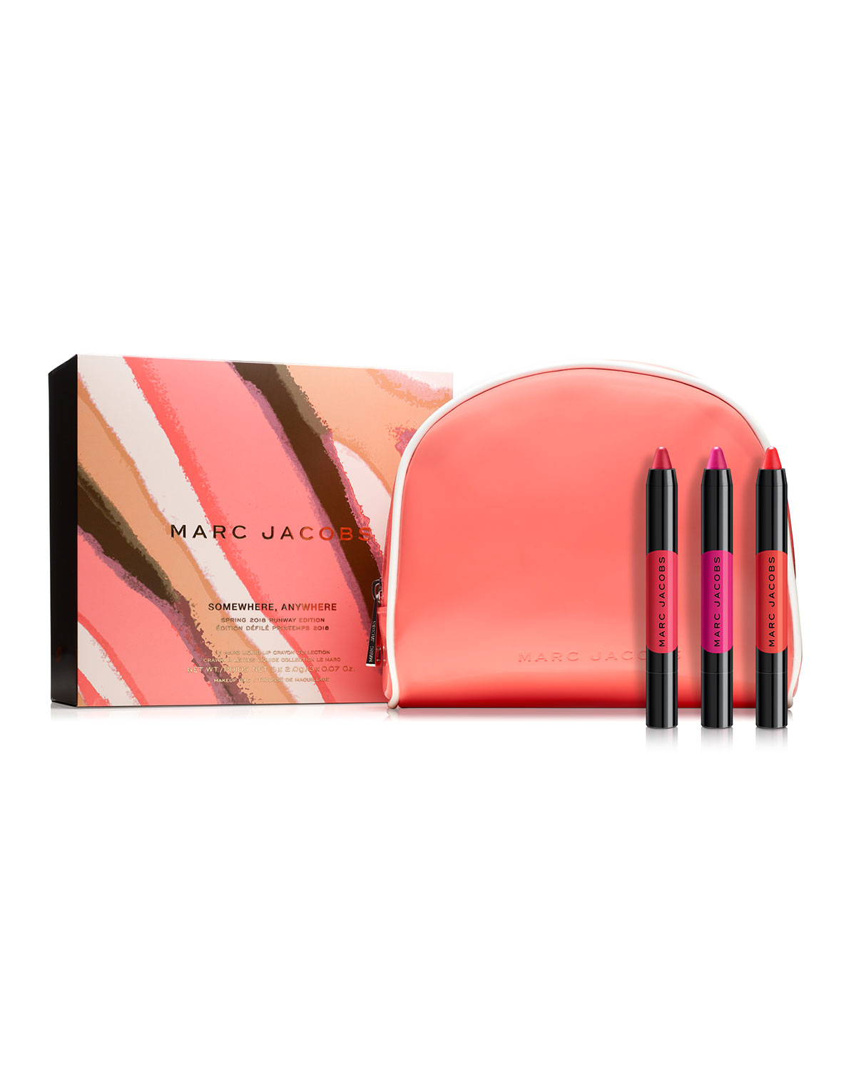 Marc Jacobs Somewhere, Anywhere Le Marc Liquid Lip Crayon Collection ($88 Value)