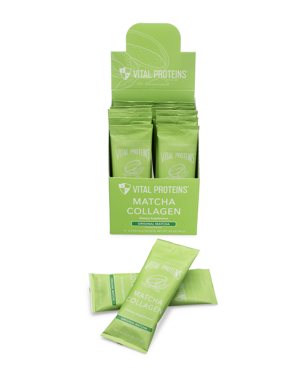 VITAL PROTEINS Collagen Peptides Matcha Stick Pack Box